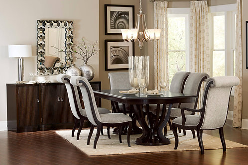 Savion Dining Table & Upholstered Chairs
