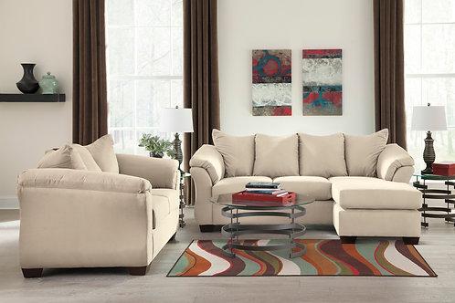 Darcy Stone Sofa Chaise & Loveseat