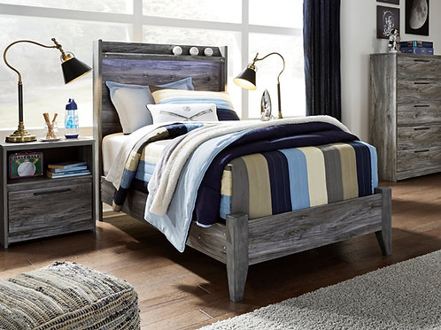 Baystorm Gray Twin Bed