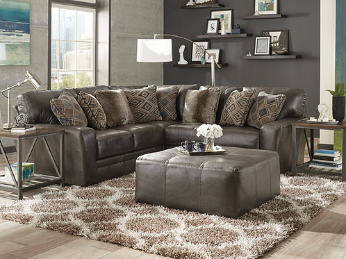 Denali Steel 2-Piece Leather Sectional