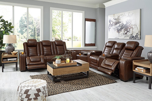 Backtrack Chocolate Power Reclining Sectional