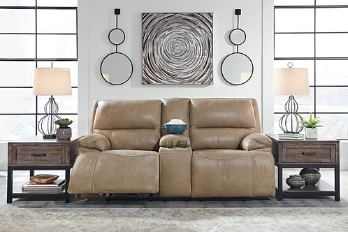 Ricmen Putty Leather Power Reclining Sofa OR Loveseat