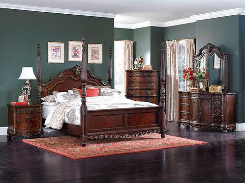 Deryn Park Stately Poster Bedroom Set
