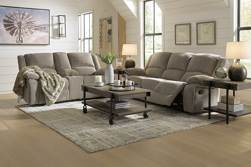 Draycoll Pewter Reclining Sofa OR Loveseat