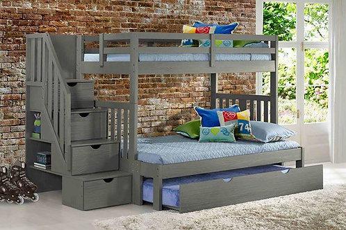 Cambridge Gray T/F Staircase Bunk Bed