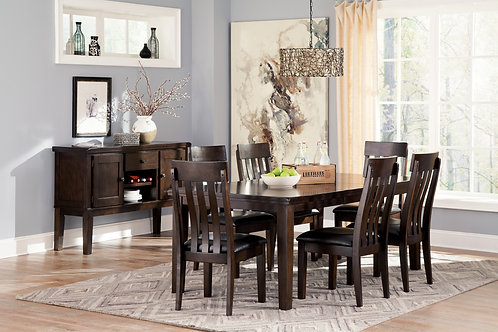 Haddigan Espresso Dining Table & 4 Chairs