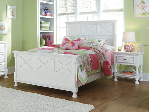 Kaslyn Youth White Bed