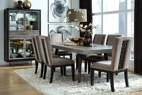 Ryker Nocturn Black & Gray Rectangular Table & 4 Chairs