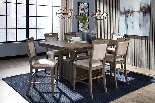 Johurst Counter Height Dining Table & 6 Barstools
