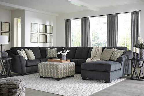 Eltmann Slate XL 4-Piece Sectional (RSF Chaise)