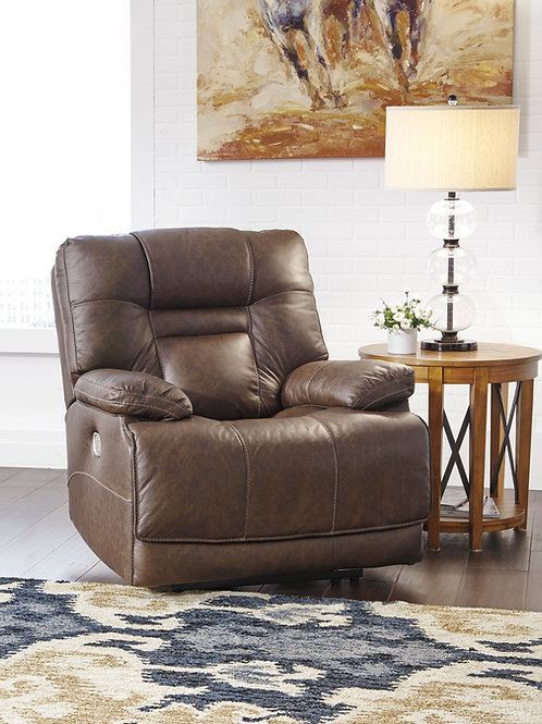 Wurstrow Umber Leather Power Recliner