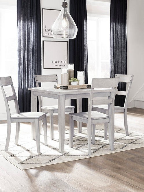 Loratti Weathered Gray Table & 4 Chairs