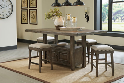 Wyndahl Brown Counter Dining Table & 4 Stools