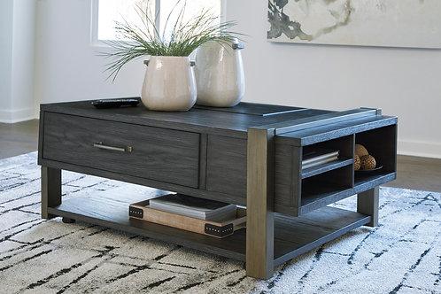 Forleeza Dark Gray Lift-Top Cocktail Table