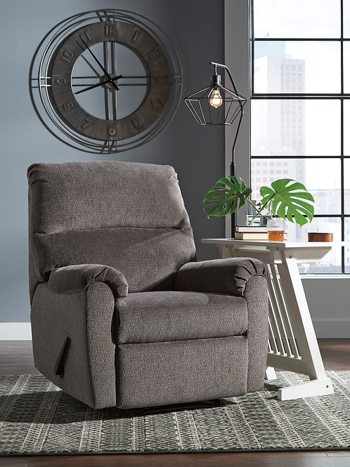 Nerviano Gray Zero-Wall Recliner