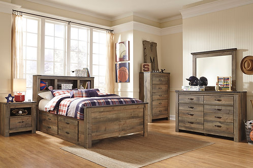 Trinell Twin Bookcase Storage Platform (Bed Only)