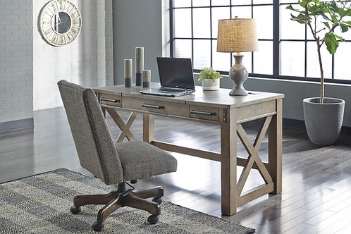 Aldwin Gray Home Office Lift-Top Desk