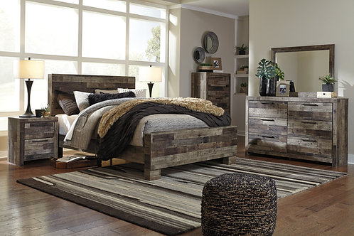 Derekson Multi-Gray Rustic Bedroom Set