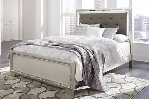 Lonnix Gray Upholstered Bed