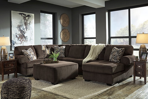 Jillingsly Chocolate 3-PC Sectional