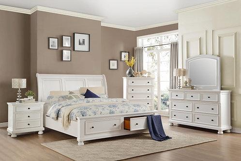 Laurelin White Storage Bedroom Collection