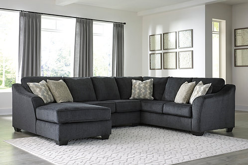 Eltmann Slate 3-Piece LSF Sectional