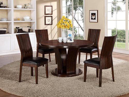Daria Espresso Table & 4 Chairs
