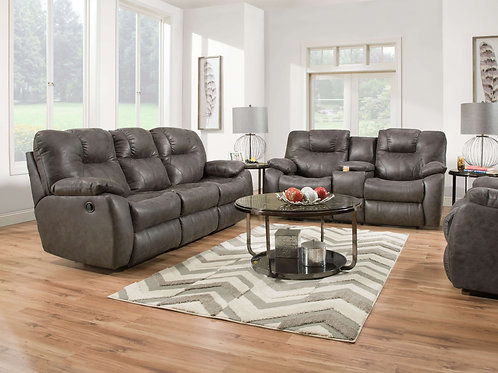 Avalon Charcoal Reclining Sofa & Loveseat Set