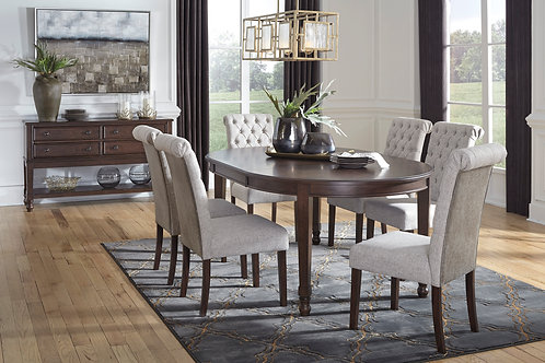 Adinton Dining Table and 6 Upholstered Chairs