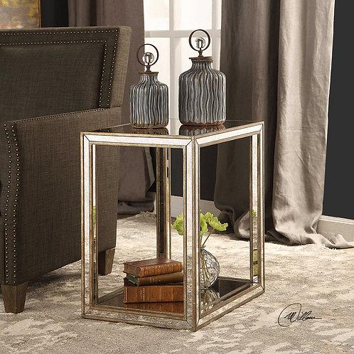 Julie Mottled Mirror End Table