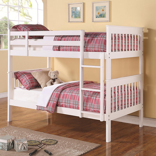 White T/T Wood Bunk Bed