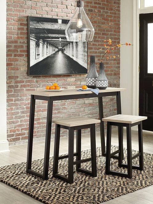 Waylowe Two-Tone Counter Table Set