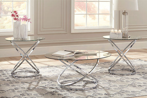 Hollynx Chrome Occasional Table Set