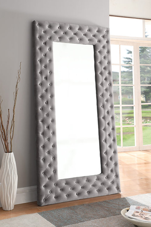 Lacey Upholstered Floor Mirror