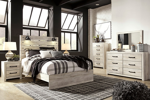Cambeck Whitewash Rustic Bedroom Set