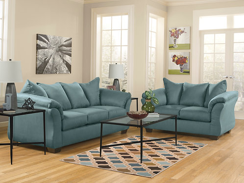 Darcy Sky Sofa & Loveseat
