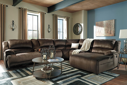 Clonmel Chocolate 6-Piece Sectional