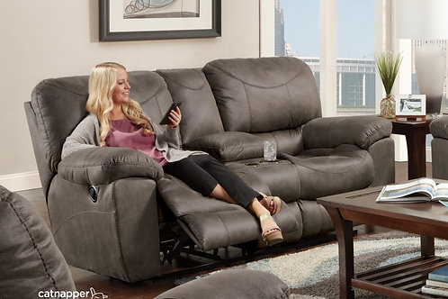 Trent Charcoal Reclining Loveseat