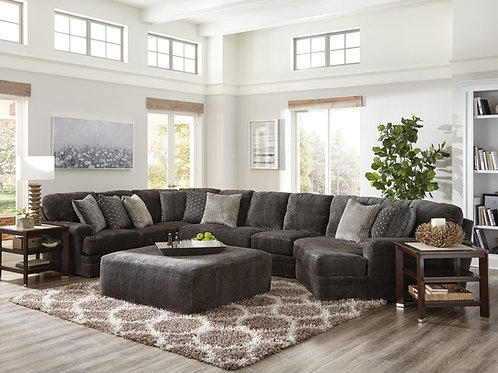 Mammoth Smoke Large Sectional w/Piano Wedge