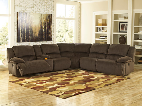 Toletta Chocolate 6-PC Sectional