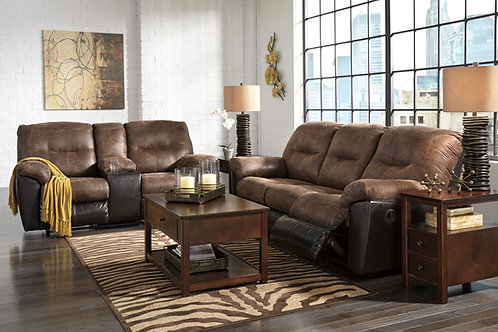 Follet Cafe Reclining Sofa & Loveseat w/Console