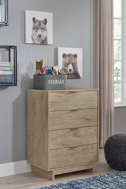 Oliah Natural 4-Drawer Chest
