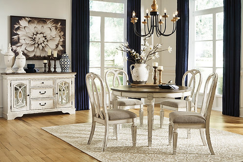Realyn Oval Extension Dining Table & 4 Chairs