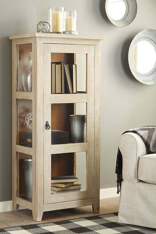 Kayton Antique Gray Accent Cabinet