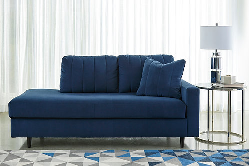 Enderlin Blue Ink Corner Chaise