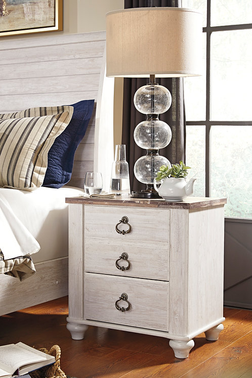 Willowtown 2-Drawer Nightstand