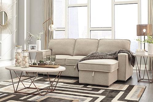 Darton Cream Pop-Up Bed Sofa Chaise