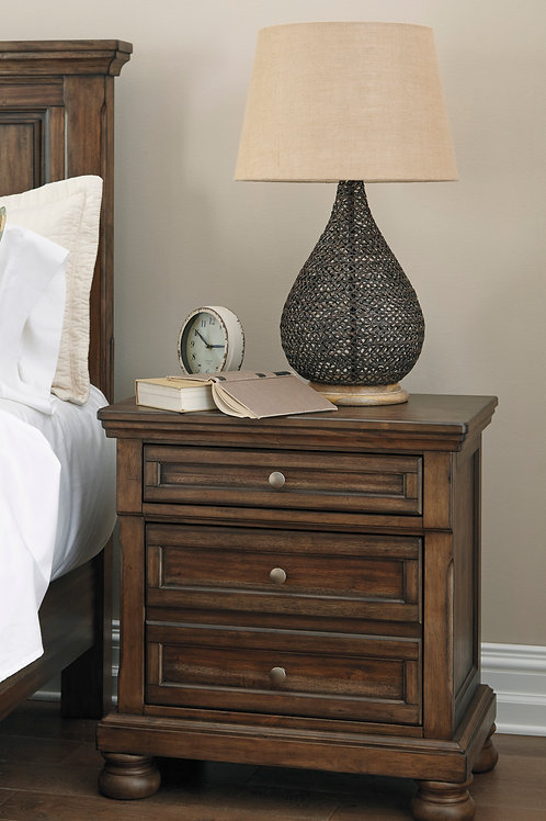 Flynnter Medium Brown Nightstand