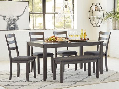 Bridson Gray 6-PC Dining Room Set
