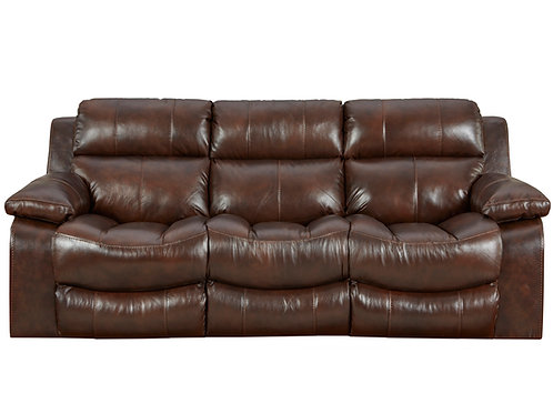 Positano Walnut Leather Reclining Sofa